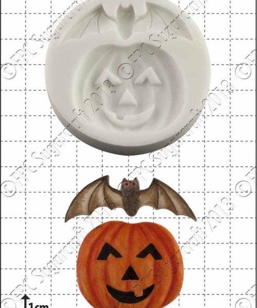 pumpkin & bat silicone mould 1kpx