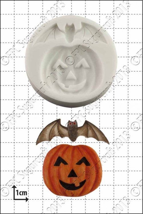 pumpkin & bat silicone mould 1kpx