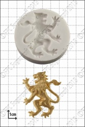 rampant lion left silicone mould 1kpx
