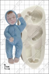 sleeping baby silicone mould 1kpx