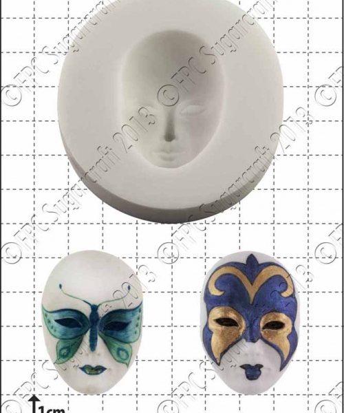 venetian mask silicone mould 1kpx