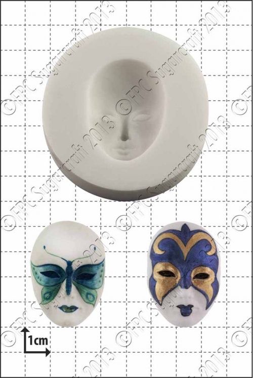 venetian mask silicone mould 1kpx