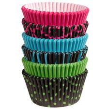 150 baking cups neon darks