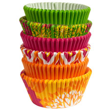 150 baking cups neon florals