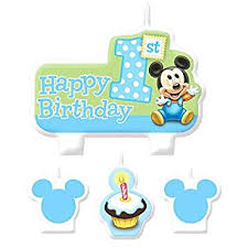 Fantastic Mickey Mouse 1 Birthday Set One Stop Cake Decorations Birthday Cards Printable Trancafe Filternl